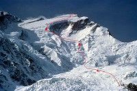 Ed Viesturs' route on Annapurna